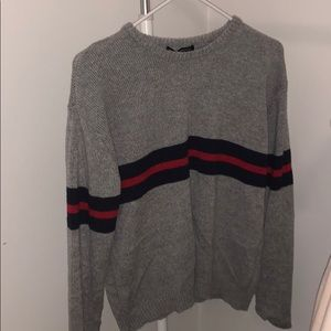Brandy Melville Grey Stripped Sweater